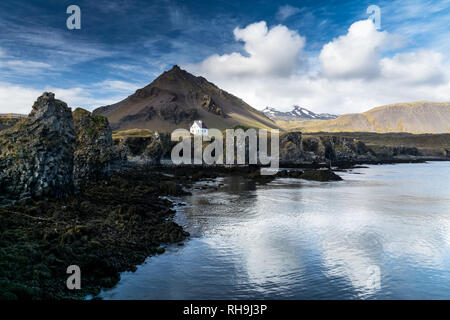 a icelandic classic picture on the Peninsula of Snaefellsnes - Stock Photo