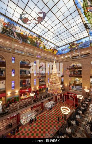 Tsentral'nyy Detskiy Magazine, central children's shop, toy department store in Moscow, Russia - Stock Photo