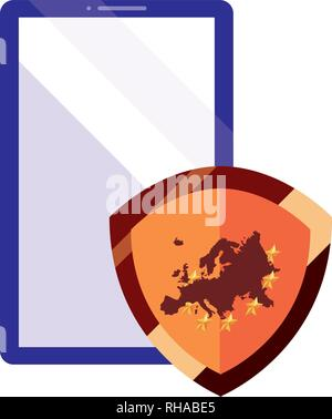 protection european union mobile copyright vector illustration - Stock Photo