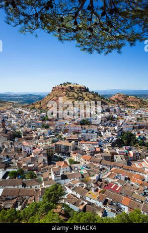Overhead of Santisteban del Puerto, Jaen province, Andalusia, Spain. - Stock Photo