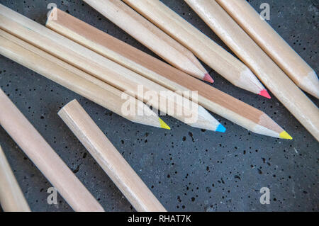 Close Up Of Colored Pencils At Amsterdam The Netherlands 2018 - Stock Photo