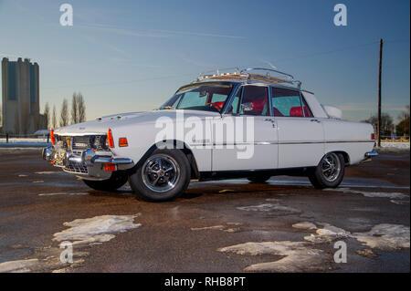 1970 NADA spec Rover 3500S (P6) - American spec classic Rover V8 saloon - Stock Photo