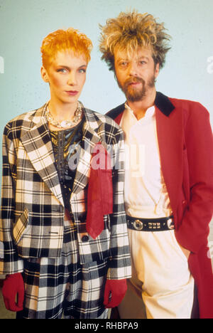 EURYTHMICS UK pop duo with Annie Lennox and Dave Stewart about 1987 - Stock Photo