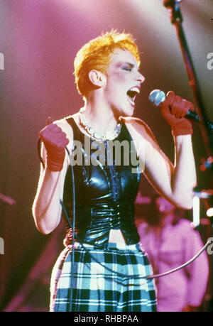 EURYTHMICS UK pop duo with Annie Lennox in 1987 - Stock Photo