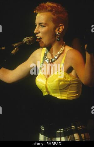 EURYTHMICS UK pop duo with Annie Lennox - Stock Photo