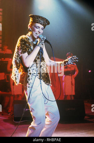EURYTHMICS UK pop duo with Annie Lennox about 1987 - Stock Photo