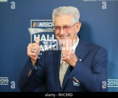 Charlotte, North Carolina, USA. 1st Feb, 2019. NASCAR Team Owner LEONARD WOOD at the 2019 NASCAR Hall of Fame Red Carpet entry into the Charlotte Convention Center. Credit: Ed Clemente/ZUMA Wire/Alamy Live News - Stock Photo