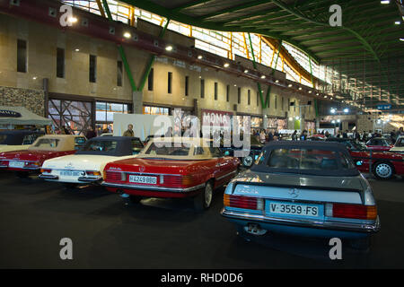 Mercedes SL. Retro Málaga 2019. Spain. - Stock Photo