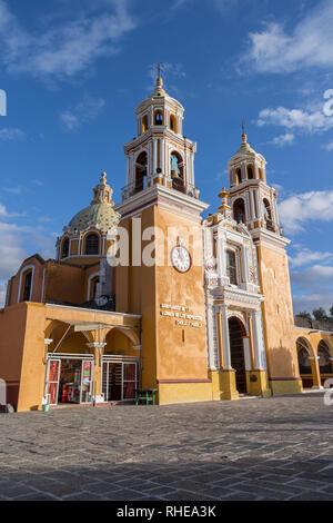 Santuario de Nuestra Señora de los Remedios, Cholula, Puebla, Mexico - Stock Photo
