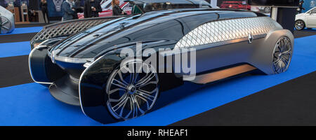 Many of Concept Cars and Design were presented at the Invalide in Paris or had the election of the most beautiful car of the year. - Stock Photo