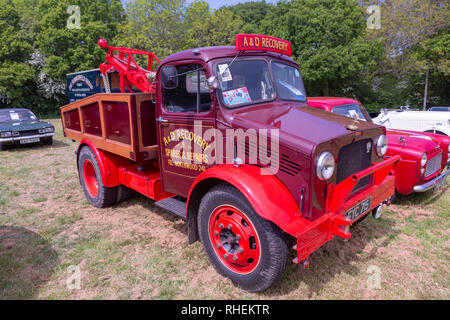 Classic Bedford Recovery Truck at Isle of Wight Steam Railway - Stock Photo