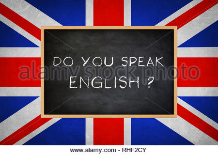Do you speak English - Stock Photo
