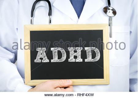 ADHD - Attention deficit hyperactivity disorder - Stock Photo