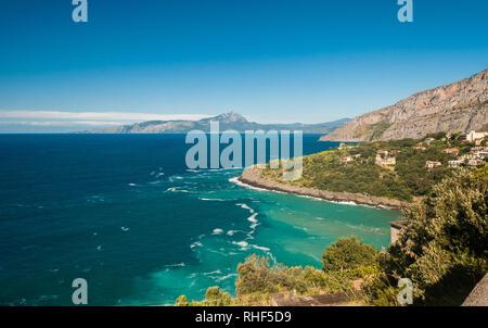 Wild coastline near Maratea (south of Italy) - Stock Photo