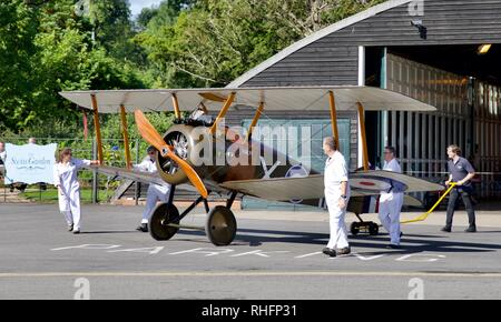 Reproduction of a 1918 Sopwith Camel - Stock Photo