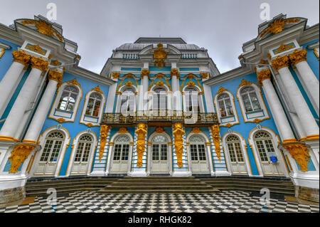 Hermitage Pavilion in Catherine Park in Tsarskoe Selo (Pushkin), St. Petersburg, Russia. - Stock Photo