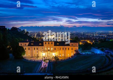 Turin skyline from Villa della Regina - Stock Photo
