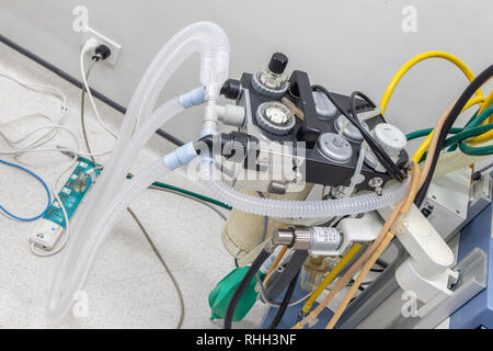 Anesthesia Machine in hospital operating room. - Stock Photo