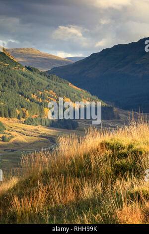 The view West from Rest and be thankful in the Loch Lomond and Trossachs National Park in Scotland. - Stock Photo