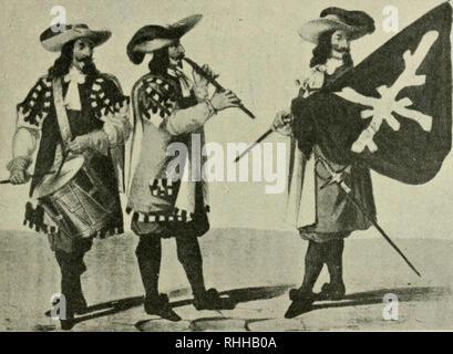 . Boletin de la Academia Nacional de Ciencias. Science; Science -- Argentina. K. LKHMANN-NITSCHU : EL CHAMBERGO 11 ' LA GUARDIA REAL DE MADRID LLAMADA LA CHAMBERGA Para dar a conocer la historia del famoso regimiento que fué lla- mado la Chamberga, reproducimos los párrafos siguientes que se ha- llan en una obra del conde d<' Clonard (1): En 1669 se formó otro regimiento de gnardias. Motivóse la organizaeióii de este cnerpo con la necesidad de dar colocación a tantos jefes y oficiales de. Guardia de 1675 : tambor, pífauo. alt't'rez. (Conde de Clonard, Historia orgánica de la» ar- mas de inf - Stock Photo