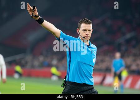 Amsterdam, Netherlands. 2nd Feb 2019. football, Johan ...