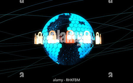 Internet smart earth technology, network data protection