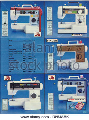 Sewing Machine, Argos Catalogue items from 1985 - Stock Photo