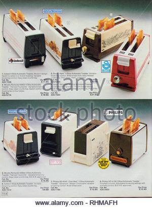 Vintage Toaster, Argos Catalogue items from 1985 - Stock Photo