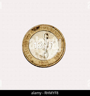 Limited edition British £2 coin commemorating the abolition of slavery in the British Empire - Stock Photo