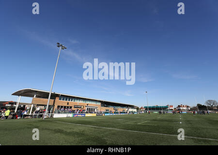 Trailfinders Sports Ground, London, UK. 3rd Feb, 2019. Betfred Super League rugby, London Broncos versus Wakefield Trinity; General view of Trailfinders Sports Ground Credit: Action Plus Sports/Alamy Live News - Stock Photo