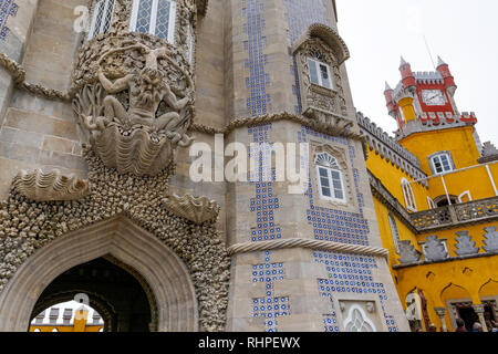 The Pena National Palace in Sintra, Portugal - Stock Photo