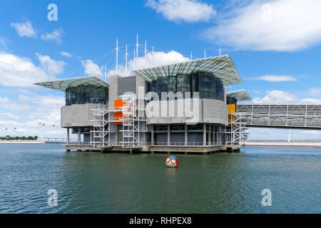 The Lisbon Oceanarium in Parque das Nações (Park of Nations), Lisbon Portugal - Stock Photo