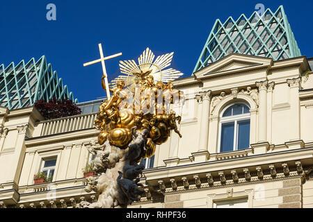 Top of the Plague Column in Vienna, Austria - Stock Photo