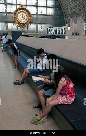 Interior of Musee D'Orsay, Paris, France - Stock Photo
