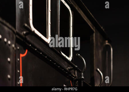 Abstract background of the side of the old historic locomotive. Vintage background - Stock Photo