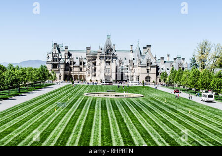 Biltmore Estate in Asheville, North Carolina, USA - Stock Photo