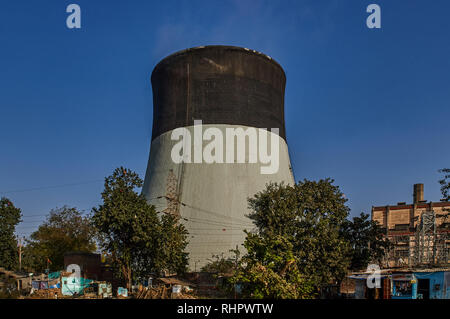 14-12- 2007 Energy-cooling  thermal power Station  Ahmedabad  Gujarat  India asia - Stock Photo