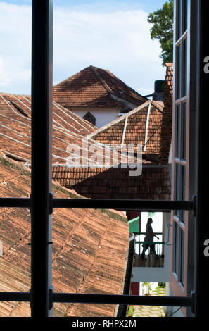 The view across Fort Cochin from historical Koder House, a mansion structured and gabled in Europe before shipped to Fort Cochin in India to be reasse - Stock Photo