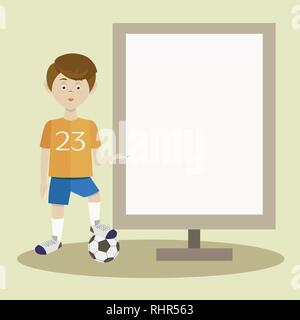 Football player silhouette. Vector illustration EPS 10 - Stock Photo