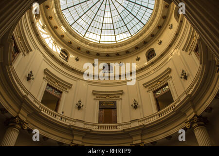 Rio de Janeiro, Brazil, October 12, 2018: Internal view of the building of the CCBB - Stock Photo