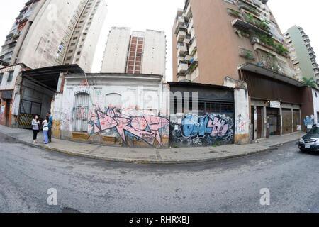 Caracas, Dtto Capital / Venezuela - 04-02-2012 : Old buildings and houses in San Juan Neighborhood. - Stock Photo