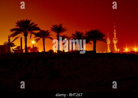 kuwait city light tower - Stock Photo