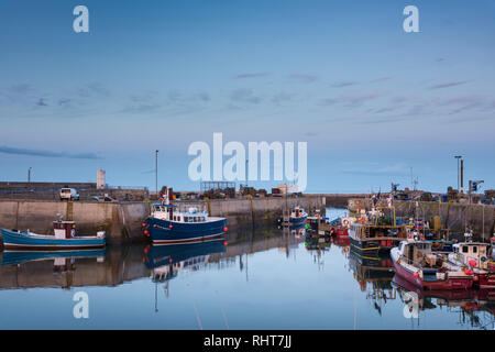North Sunderland Harbour, Seahouses, Northumberland, UK - Stock Photo