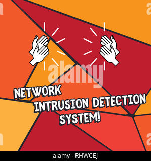 Word writing text Network Intrusion Detection System. Business concept for Safety security multimedia systems Hu analysis Hands Clapping with Sound on - Stock Photo