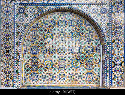 Arabic floral seamless pattern - traditional Islamic background. Decorative element - Traditional Moroccan pattern, colorful mosaic tiles background - Stock Photo
