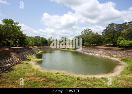 Elephant Pond in Anuradhapura Ancient City, Sri Lanka - Stock Photo