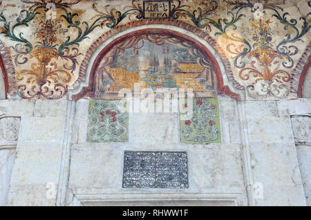 The Et'hem Bey mosque. Tirana, Albania, Europe. - Stock Photo