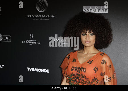 Paris, France. 4th Feb, 2019. Alicia Ayliesattends the 14th Crystal Globes Ceremony at Salle Wagram on February 4, 2019 in Paris, France. Credit: Bernard Menigault/Alamy Live News - Stock Photo