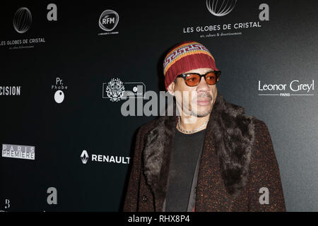 Paris, France. 4th Feb, 2019. JoeyStarr attends the 14th Crystal Globes Ceremony at Salle Wagram on February 4, 2019 in Paris, France. Credit: Bernard Menigault/Alamy Live News - Stock Photo
