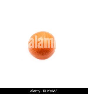 Mandarin isolated on white background.Square cropping.One Fruit. - Stock Photo